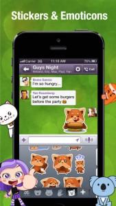 WhatsApp Messenger Alternative with stickers