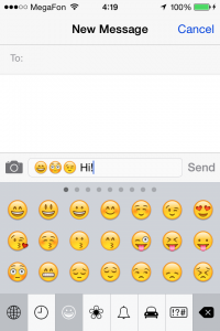 Emoticons in iOS 7