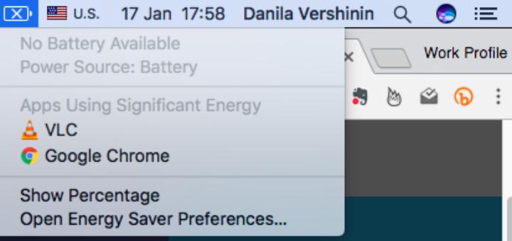 OSX Battery